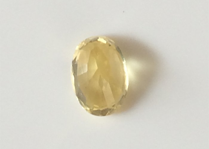 1.85 Cts Unheated Yellow Sapphire VVS1 Certified Yellow Sapphire